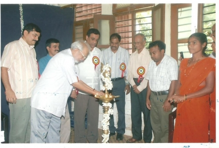 Opening of the Canacona school by Shri Narayan Athawale, Founder Trustee of Lokvishwas Pratisthan  in presence of Shri Sudin Dhavalikar, Hon. PWD Minister and others