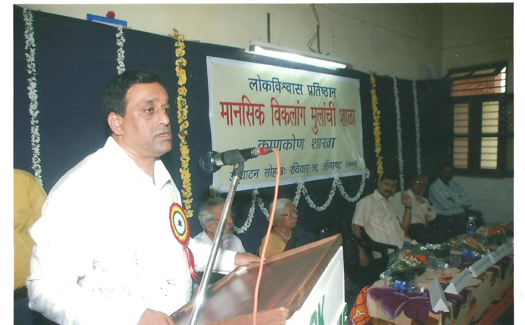 Shri Sudin Dhavalikar, Hon. PWD Minister speking on the occasion of opening of the Canacona school