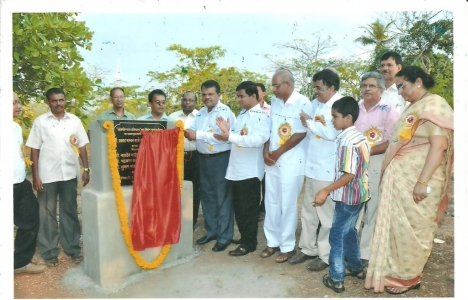 Foundation stone laying ceremony of Special school at Quepem